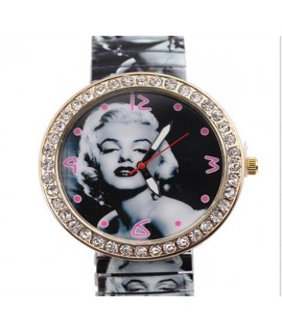 Reloj En Acero Inoxidable Marilyn Monroe