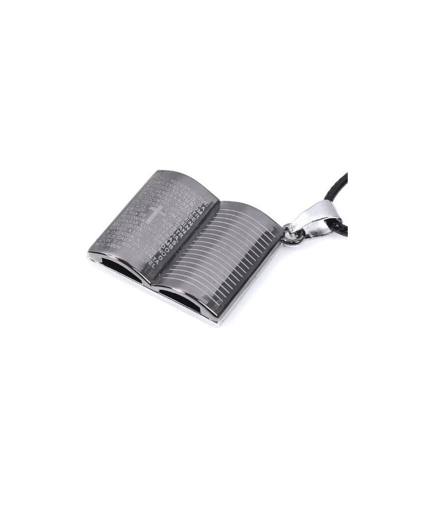 Collar De Biblia Con Padre Nuestro En Aleación de Zinc