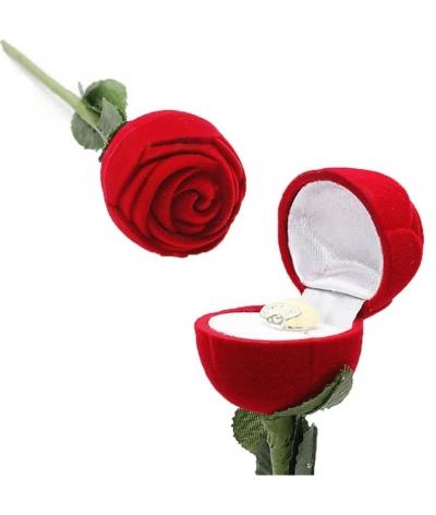 Estuche Para Joyas - Anillo En Forma De Rosa