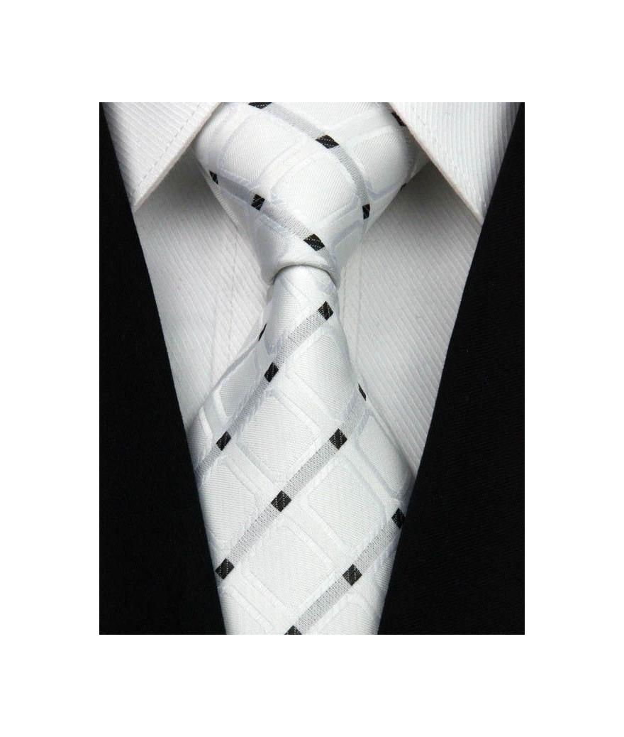 Corbata Blanca, Roja O Azul Geométricas