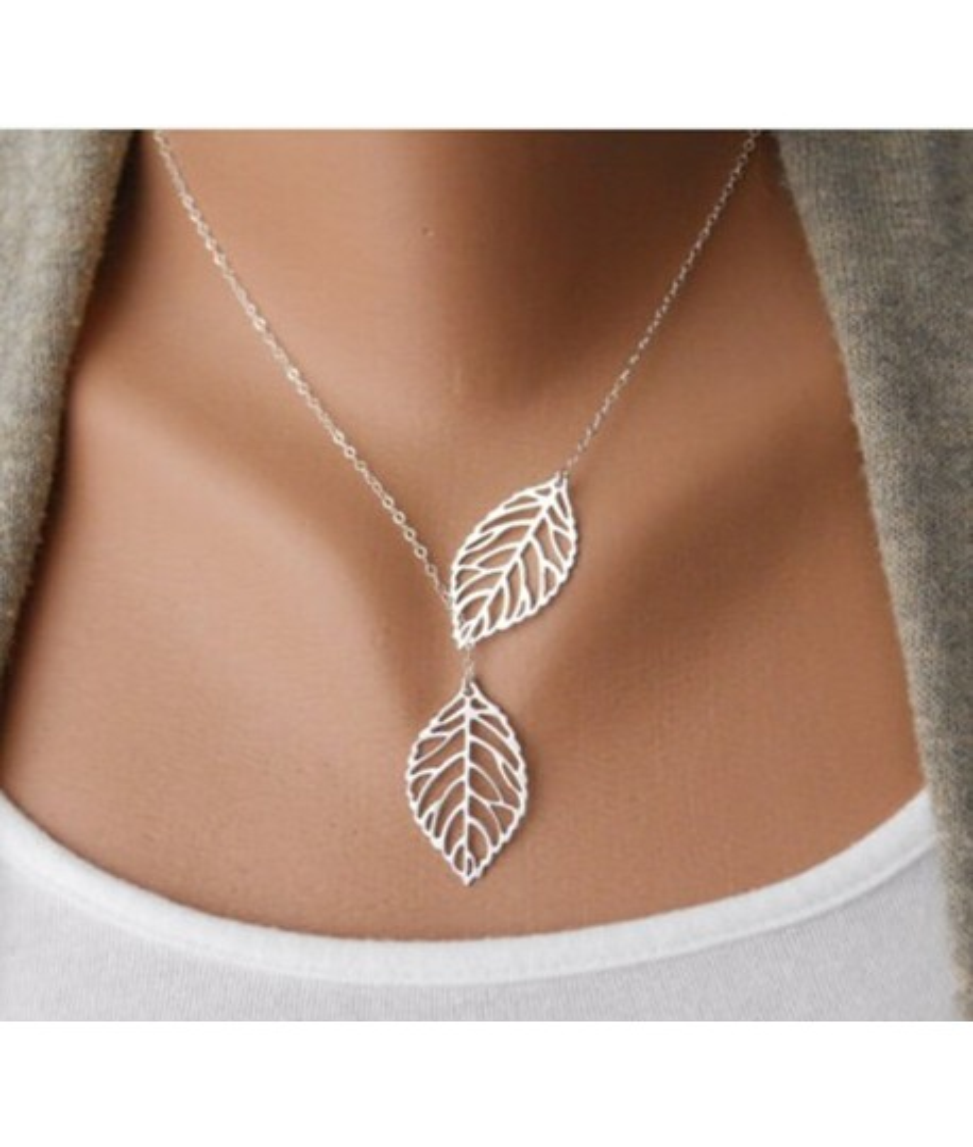 Cadena de hojas Bisutería