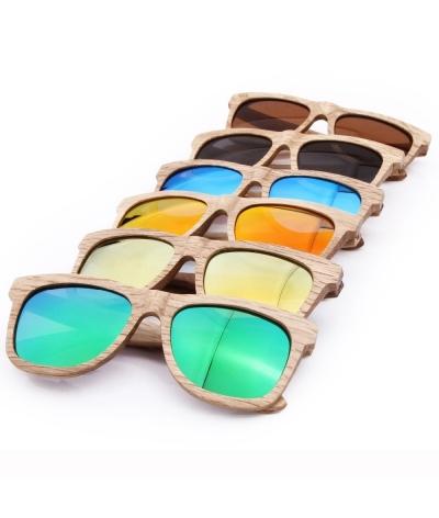 Gafas De Sol De Madera Marco Completo + Estuche En Madera