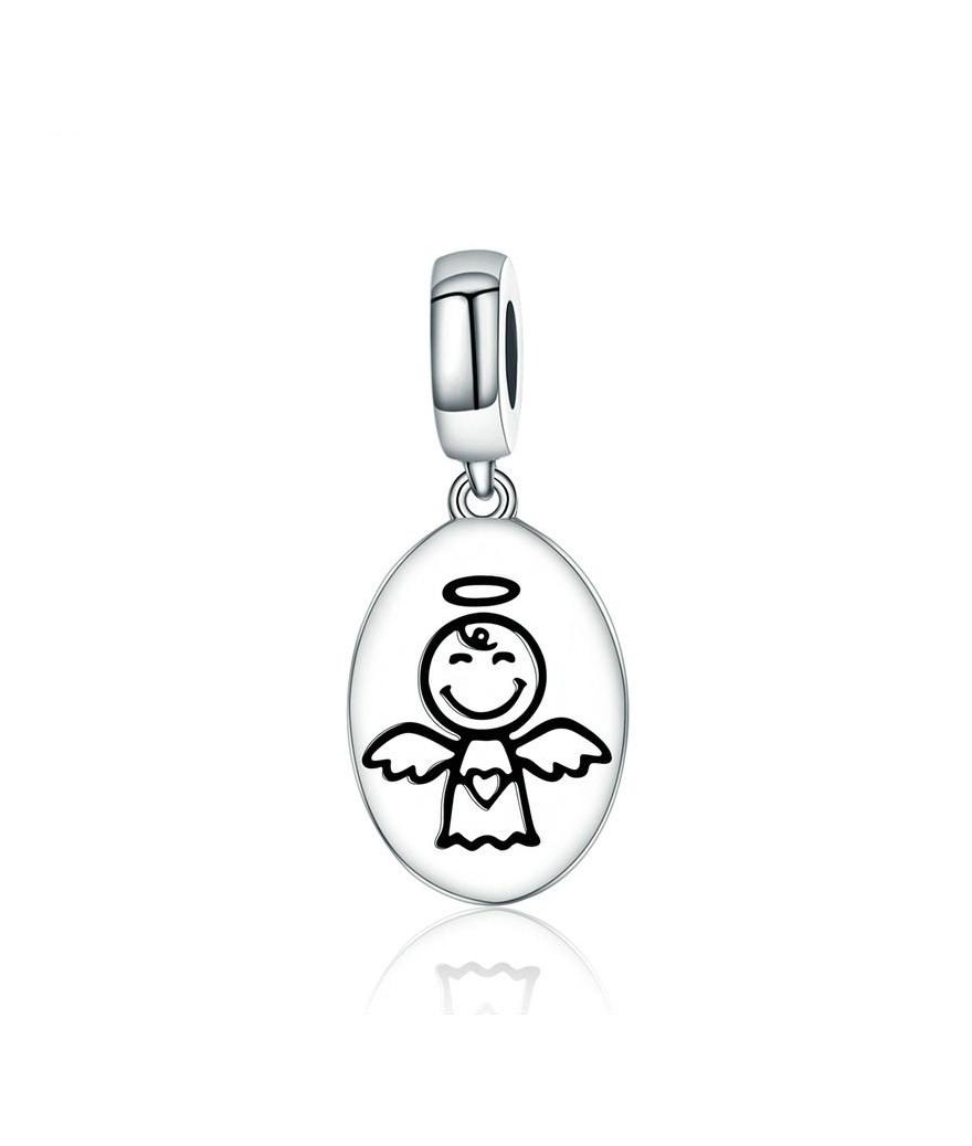 Collar ángel guardián en plata