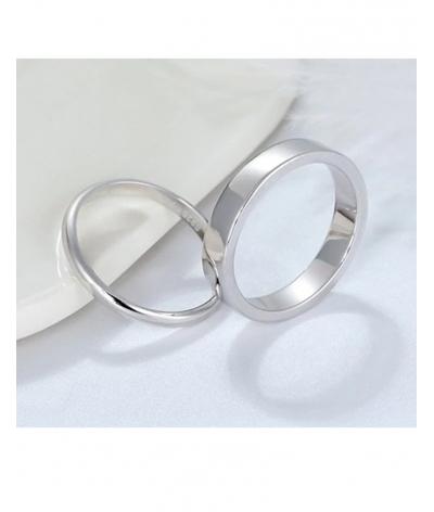 Argollas delgadas elegantes y clásicas en plata