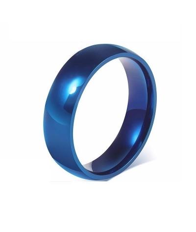 Argolla clásica azul en acero inoxidable