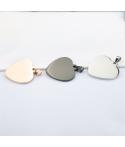 Placas de corazón grabados personalizables en acero inoxidable