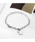 Brazaletes pulseras para pareja estrella personalizable en acero inoxidable