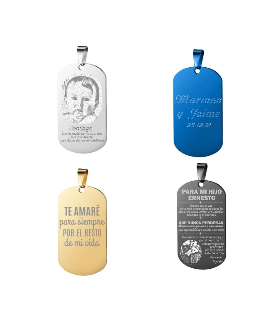 Placas grabadas mensajes del alma personalizados en acero inoxidable