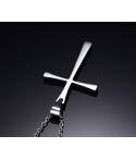Collar de cruz en acero inoxidable