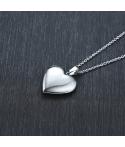 Collar relicario corazón acero inoxidable grabado texto