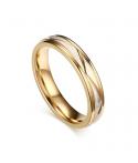 Argollas de matrimonio dorado con textura mate en acero inoxidable