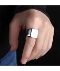 Anillo personalizable para grabado en acero inoxidable