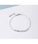 Manillas para mujer diseño con zirconias geométricas en plata
