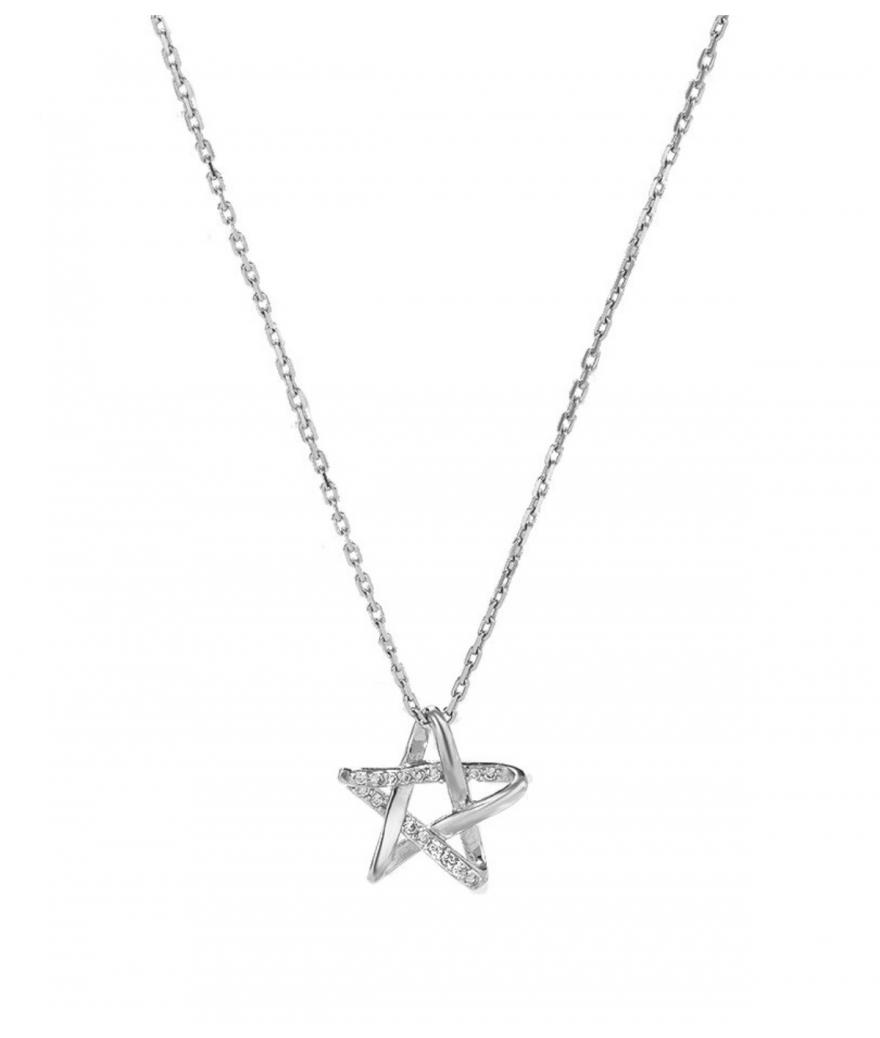 Collar con dije estrella de encanto en plata