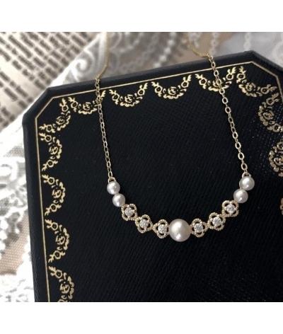 Collar con dije perlas en plata