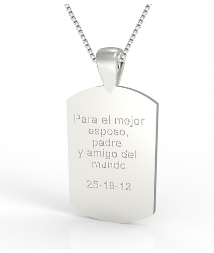 Placa de plata personalizable