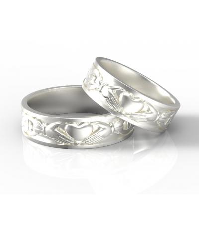 Argollas de matrimonio Claddagh en plata