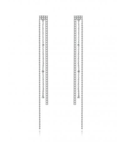 Aretes elegantes borlas en plata