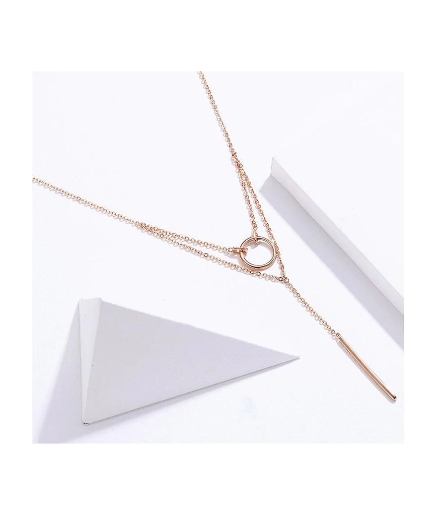 Cadena larga minimalista en plata