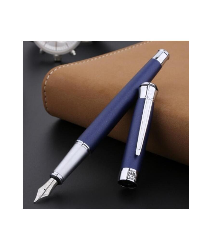 Pluma estilográfica personalizada azul