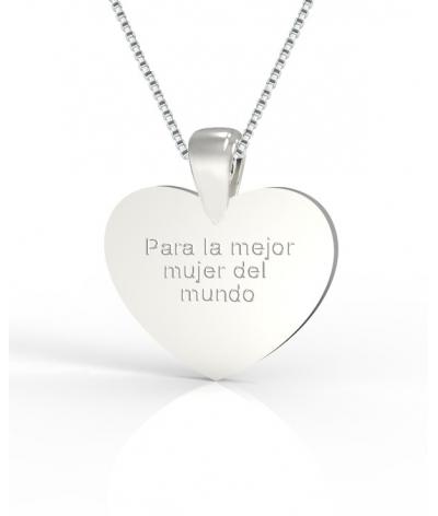 Dije de plata corazón personalizable