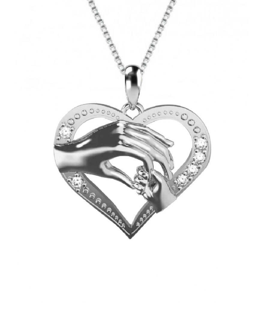 Cadena con dije regalos  - unión de madre en plata
