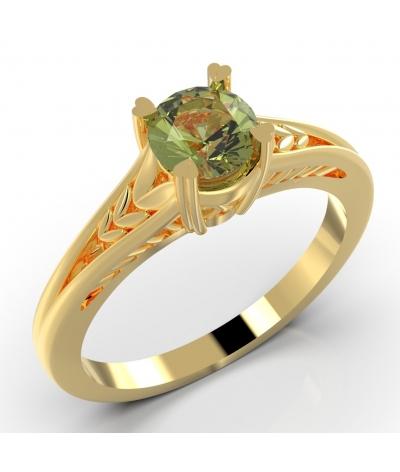 Anillo de compromiso naturaleza en oro