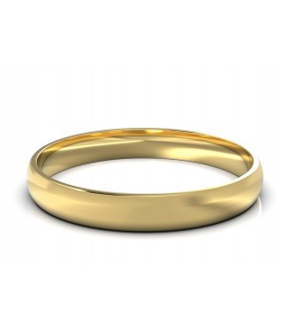 Argolla clásica delgada en oro