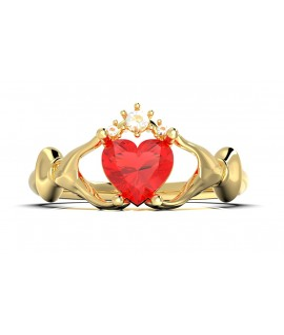 Anillo de compromiso Claddagh en oro