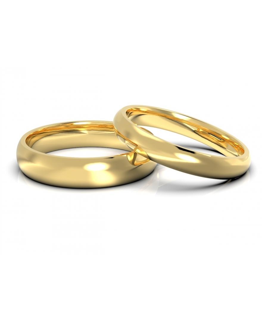 Argollas de matrimonio clásicas en oro